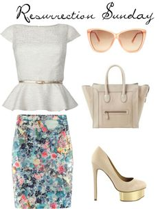 """I know it's not about the clothes on Resurrection Sunday, but I just had to pin this outfit!!   Resurrection Sunday Chic"""" by virtuouslyvindicated on Polyvore"""