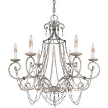 View the Quoizel RSV5006 Transitional 6 Light 360 Watt Steel Chandelier from the Savigne Collection at LightingDirect.com.