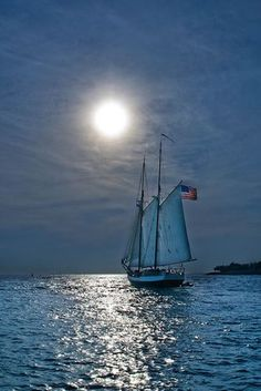 Moonlight Sailing in Portugal