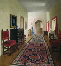 Leonard Campbell Taylor (1874 - 1969),The Gallery (1952)