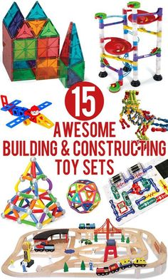 15 Awesome Building & Constructing Toy Sets for Kids : 15 awesome building and construction toys for kids 15 awesome, tried and tested building and constructing toy sets that kids LOVE! Includes suggestions for children of all ages. Educational Toys For Toddlers, Preschool Toys, Educational Toys For Kids, Learning Toys, Stem Learning, Toddler Toys, Baby Toys, Toddler Fun, Baby Play