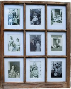 Picture frame made out of old window