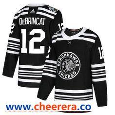 2c2d253fdda Men's Chicago Blackhawks #12 Alex DeBrincat Black 2019 Winter Classic  Adidas Stitched NHL Jersey