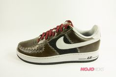 b41752cc428a3e Nike Air Force One Low UT (Brown Black Red) Gray Nike Shoes