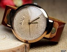 Women Wristwatches Leather Crystal ..