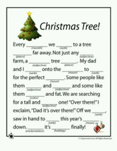 Christmas mad lib