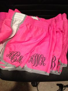 Monogramed running shorts