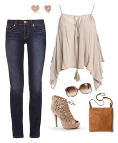 """""""Untitled #4"""" by stacsuncin on Polyvore featuring Sans Souci, Tory Burch, Apt. 9, Merona and Michael Kors"""