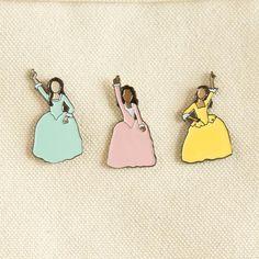 Hamilton Schuyler Sisters Enamel Pins | The Casey BarberSHOP | shop.caseybarber.com