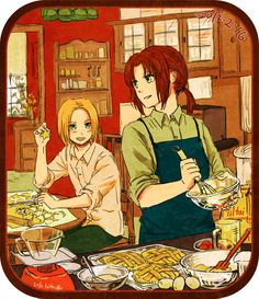 Felks and Toris having a baking day - Art by teito/スパコミH58a
