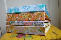 Fabric-covered ring binders / folders