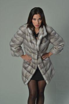 Luxury gift/ Rex rabbit Full skin Fur coat/Fur by skffurs on Etsy