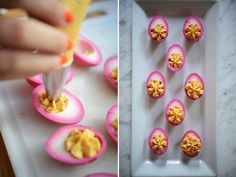 the prettiest deviled eggs.