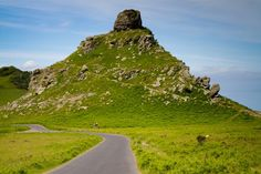 The Valley of Rocks near Lynmouth in Devon in Exmoor National Park