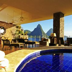 luxe mountain getaway, St Lucia