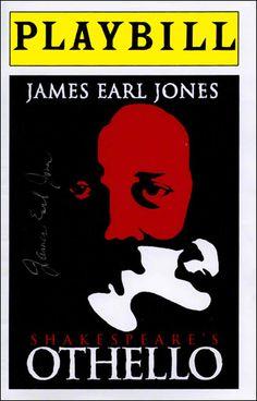 Shakespeare's Othello with James Earl Jones Earl Jones, Shakespeare Plays, Theatre Geek, Othello, Richard Iii, Midsummer Nights Dream, Telling Stories, Auditorium, Writers