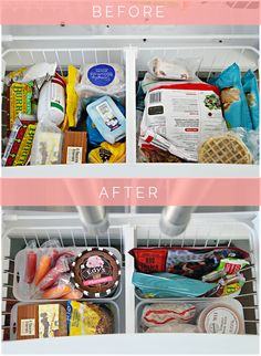 IHeart Organizing: Organized Counter Depth Fridge & Freezer Drawer with Tips and Favorite Products
