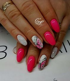 59 Most Trendy Attractive Pink Nails Design For Prom and Party This Season - Page 10 of 59 - Marble Kim Design Pink Nail Designs, Beautiful Nail Designs, Acrylic Nail Designs, Nails Design, Classy Nails, Stylish Nails, Trendy Nails, Color For Nails, Nail Colors