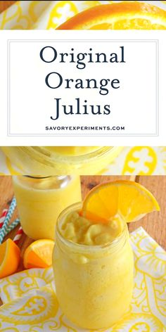 This Orange Julius Recipe is the REAL recipe they use at the store! A frothy, fr… This Orange Julius Recipe is the REAL recipe they use at the store! A frothy, frozen orange drink that is perfect for sipping on a hot day! Orange Drinks, Fruit Drinks, Smoothie Drinks, Fruit Smoothies, Healthy Smoothies, Healthy Drinks, Diet Drinks, Healthy Food, Healthy Detox