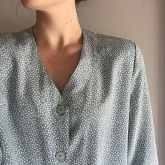 Button Up Blouse Vintage style top! It does have shoulder pads which could easily be cut out Koret Tops Button Down Shirts