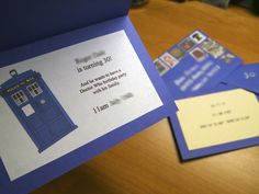 Doctor Who party invitation template - inside look
