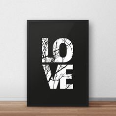 Printable love poster, Black and white poster, Quote poster, affiche scandinave, word wall art print, love letters, love print, Home decor, scandinavian art, scandinavian poster ✭ ✭ ✭ PRINT IT & FRAME IT YOURSELF! ✭ ✭ ✭ Print Your Own Artwork - Find the perfect artwork for your modern home. Simply download your files from Etsy & send them to print! ★ ORDERING How it works: 1. Place this item in the cart to purchase it. 2. Click the *CHECKOUT* button 3. If you need a custom size just leave...
