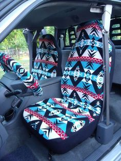 nice 1 Set of Warrior Print seat covers and steering wheel cover custom made....... Cute Car Accessories