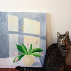 The cat and the painting by aastrøm. aastrom.dk