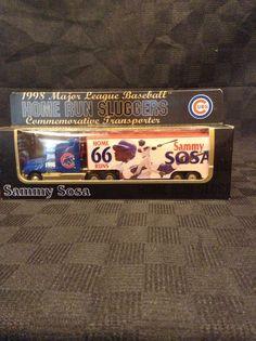 NIB Licensed MLB Sammy Sosa 66 Runs Diecast Transporter Truck Cubs Baseball  #WhiteRoseCollectible