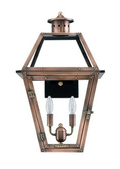 """Primo Lanterns OL-18E Orleans 15"""" Wide 2 Light Outdoor Wall-Mounted Lantern in E Copper Outdoor Lighting Wall Sconces Outdoor Wall Sconces"""