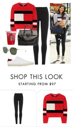 """Sin título #2892"" by greciavalentino ❤ liked on Polyvore featuring DKNY, Tommy Hilfiger, Yves Saint Laurent and Versace"