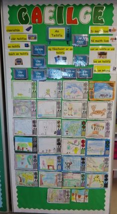 My Gaeilge Board- An Teilfís To help my class learn the names of the different television programmes. I had them draw them out on. Primary Teaching, Primary School, Teaching Ideas, Christmas Art Projects, Irish Language, 5th Class, School Bulletin Boards, Television Program, Classroom Displays