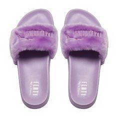 Fur Women's Slide Sandals - US (1.960 CZK) ❤ liked on Polyvore featuring shoes, sandals, fur slide sandals, fur shoes, fur sandals and slide sandals