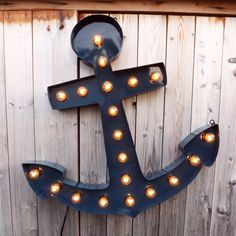 Down Anchor Marquee | dotandbo.com . would look cool in an industrial or sea themed bathroom
