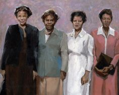 Beauty Queens, painting by artist Felicia Marshall