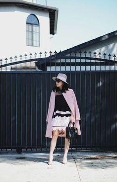 Ladylike: Doll Dress, Pink Coat & Shadow Pink Hat