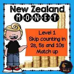 New Zealand Money level 1: Skip counting in 2s, 5s and 10s