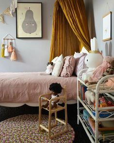 Vintage inspired girls room