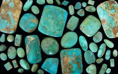 Cerrillos Turquoise from Cerrillos, New Mexico. This area produced turquoise in prehistoric times.  The Cerrillos mining district is one of the oldest  Spanish mineral developments in the Southwest.