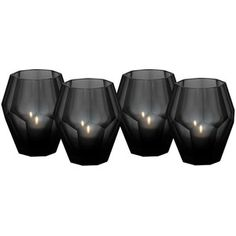 Eichholtz Okhto Black Tea Light Holders - Set Of 4