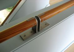 Handrail detail, by Brownwork Design, Seattle, WA. (Click on photo for larger image.)  http://www.brownworkdesign.com/