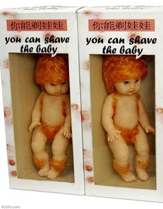 You can shave the baby...  Too crazy for words.  I especially like the hair suspenders.