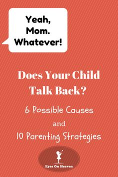 Does your child talk back or argue with you? Nothing happens out of the blue. If your child has started speaking disrespectfully and talking back at you, there's a reason. Identifying the cause of your child's behavior is an essential step in determining how to address the situation effectively.