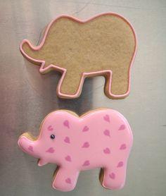 Pretty Pink Elephants Cookies to Celebrate a Baby Girl ~ Make Me Cake Me