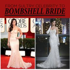 From the Red Carpet to the Aisle Recreate looks from the 2013 Golden Globe Awards red carpet with these Justin Alexander vintage wedding dresses. Recreate Megan Fox's look Sophisticated Bride, Elegant, Golden Globe Award, Vintage Beauty, Old Hollywood, Formal Dresses, Wedding Dresses, Bagel