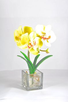 Artificail Yellow Orchid Thai Flower ** To view further for this item, visit the image link.