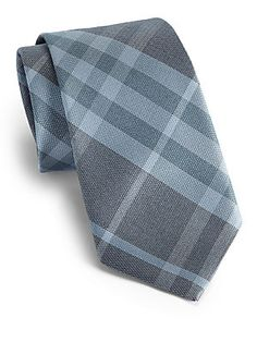 Burberry London Checked Silk Tie