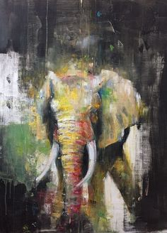María Álvarez Estévez, oil and acrylic painter based in Madrid. Elephant Artwork, Elephant Paintings, Lion Painting, Contemporary African Art, Abstract Animals, Arte Popular, Wildlife Art, Animal Paintings, Portrait Art