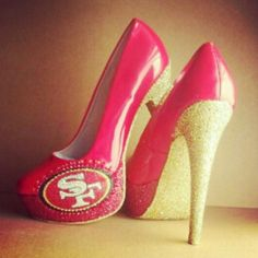 Red and Gold 49ers Heels...I am in heaven!!!