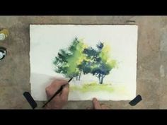 Learn How To Paint with Watercolours - Wet into Wet - YouTube